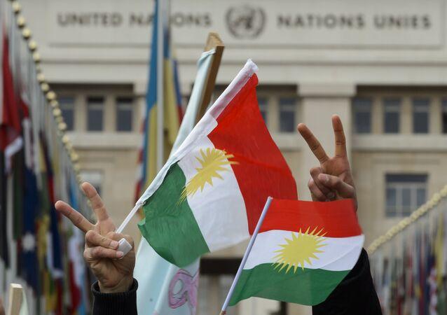 Flags of Kurdistan. (File)
