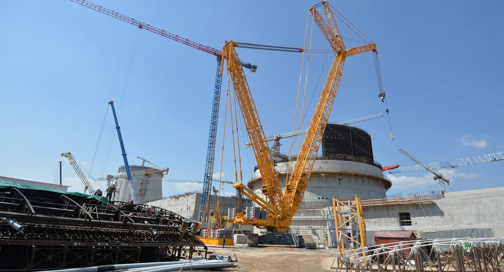 Construction of nuclear power plant in Astrovets, Belarus