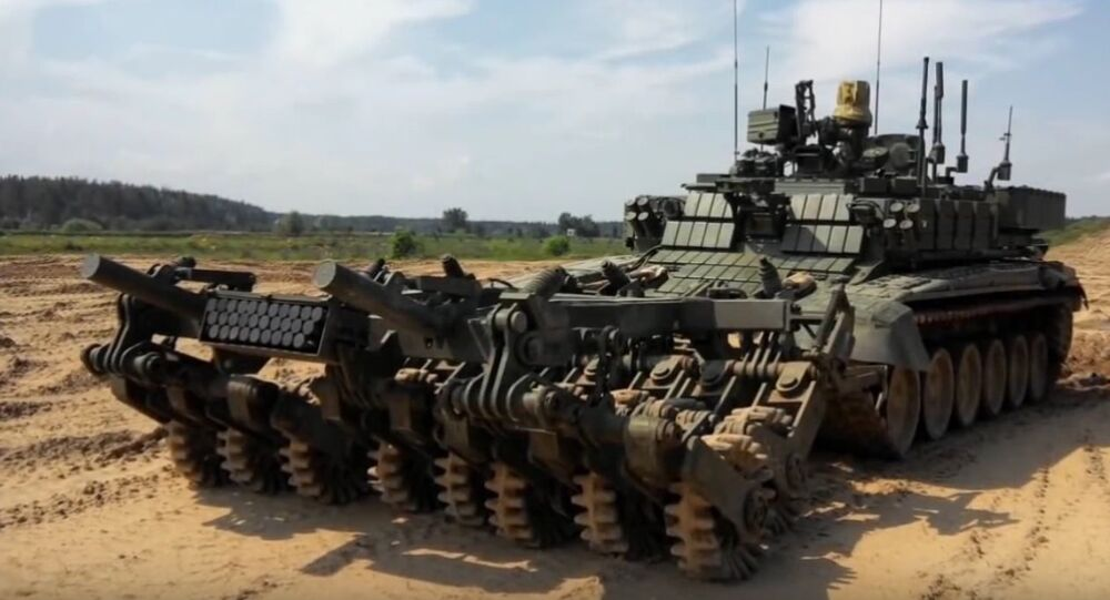 The Russian Defense Ministry has disclosed information about the army's advanced new demining robot Prokhod-1, according to the newspaper Rossiyskaya Gazeta