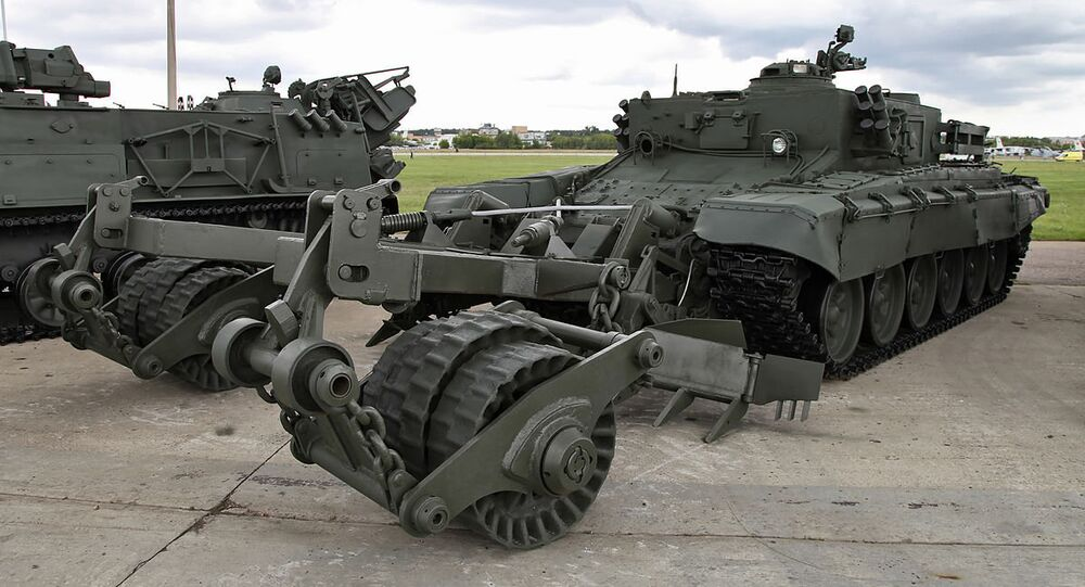 Armored mine-clearing vehicle BMR-3M