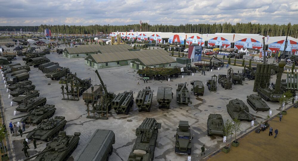 Combat hardware exhibition at the opening of the Army-2015 International Military-Technical Forum at the new congress and exhibition center in Patriot Park in Kubinka in the Moscow suburbs. File photo