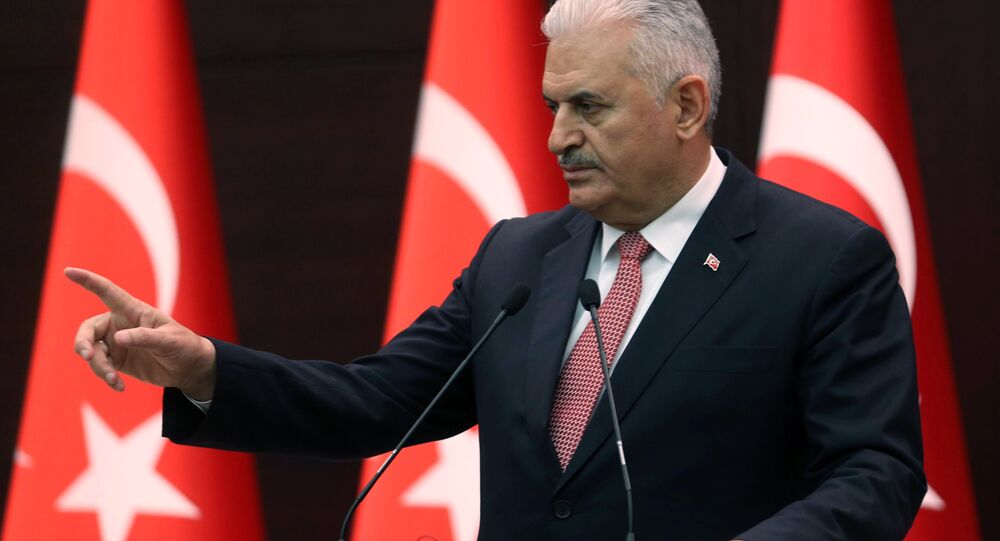 Turkish Prime Minister Binali Yildirim at the Cankaya Palace in Ankara (File)