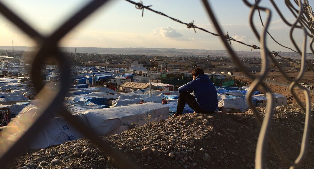 Claims of child abuse at an official EU refugee camp