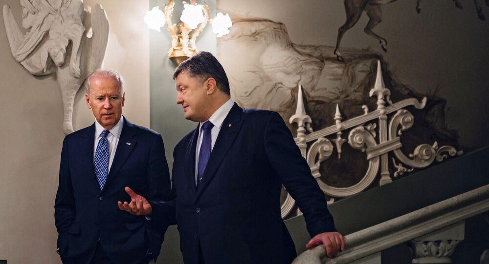 Ukrainian President Petro Poroshenko meets with Vice President of the United States Joe Biden, August 2016.