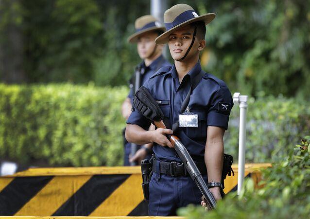 Singapore Gurkha policemen (File)