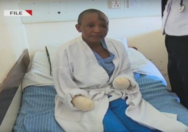 A Kenyan man has been arrested after attacking his wife with a machete, slashing her face and head and cutting her hands off, because they failed to bear children throughout their five-year marriage
