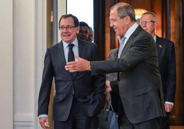 Foreign Minister Sergei Lavrov meets with Foreign Minister of New Zealand Murray McCully