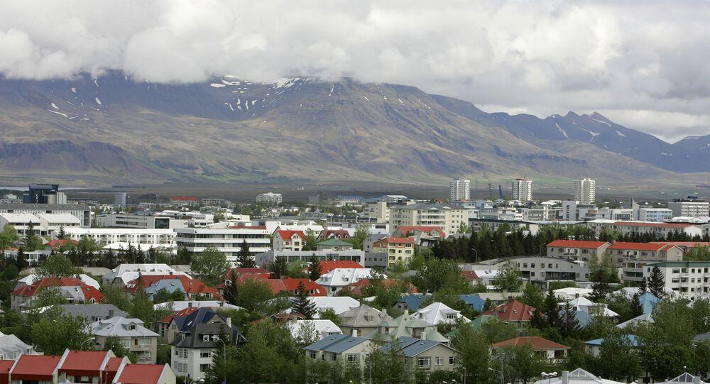 View across Reykjavík in Iceland from Öskjuhlíd Hill