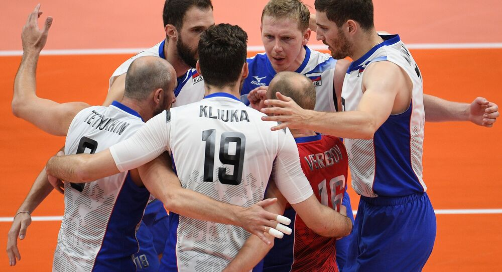 Male volleyball players of the Russian national team made their way to the semi-finals of the Olympic tournament at the 2016 Games in Rio de Janeiro