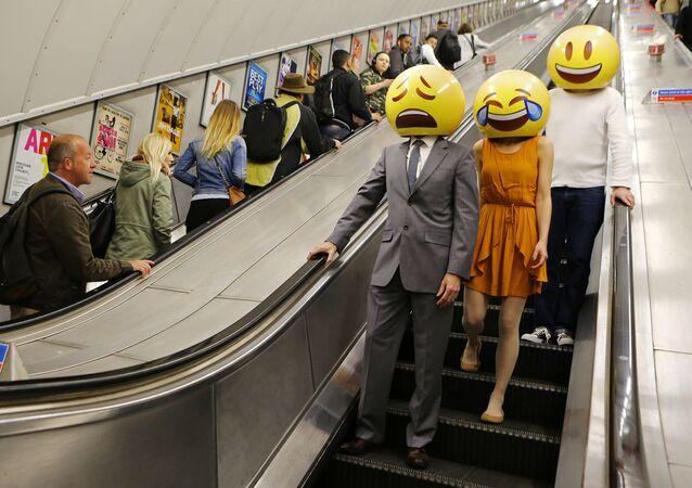 Emoji characters around London