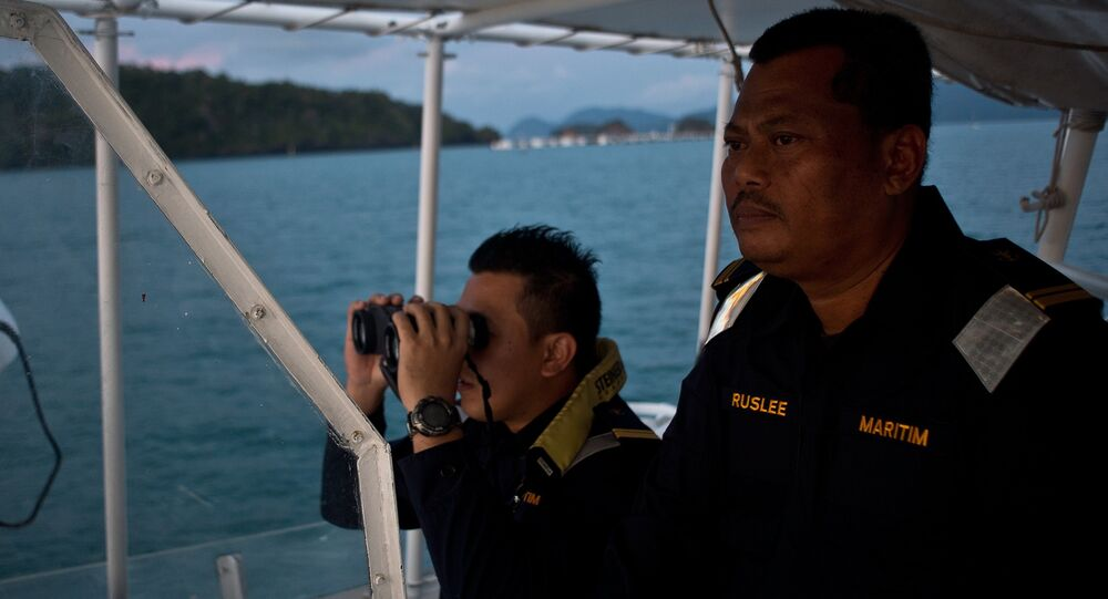 Malaysian Maritime Enforcement agency personnel