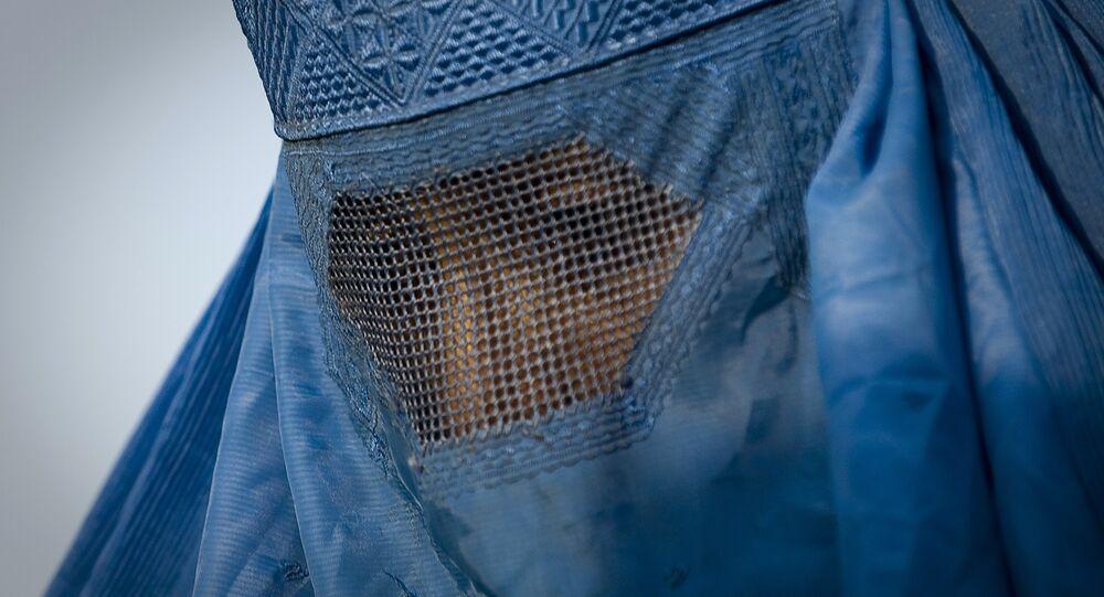 Woman under her burqa