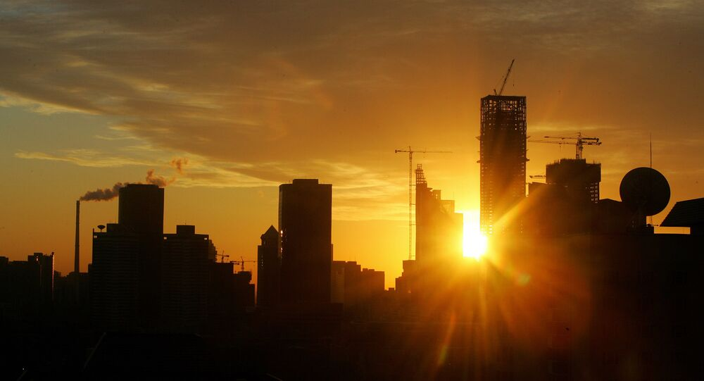Skyscrapers rise above Beijing