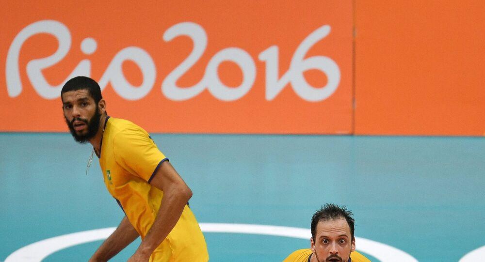 Olympics 2016. Volleyball. Men. Russia - Brazil