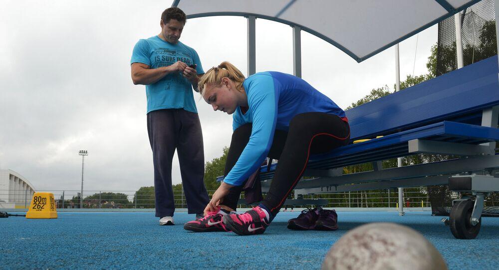 Athletics. Russian national team training