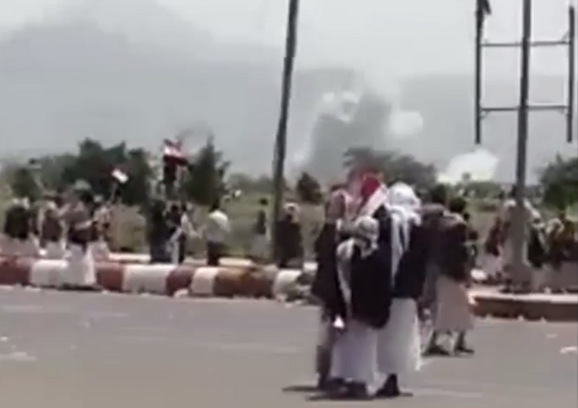 Saudi airstrikes target Houthi rally in Yemen on August 20