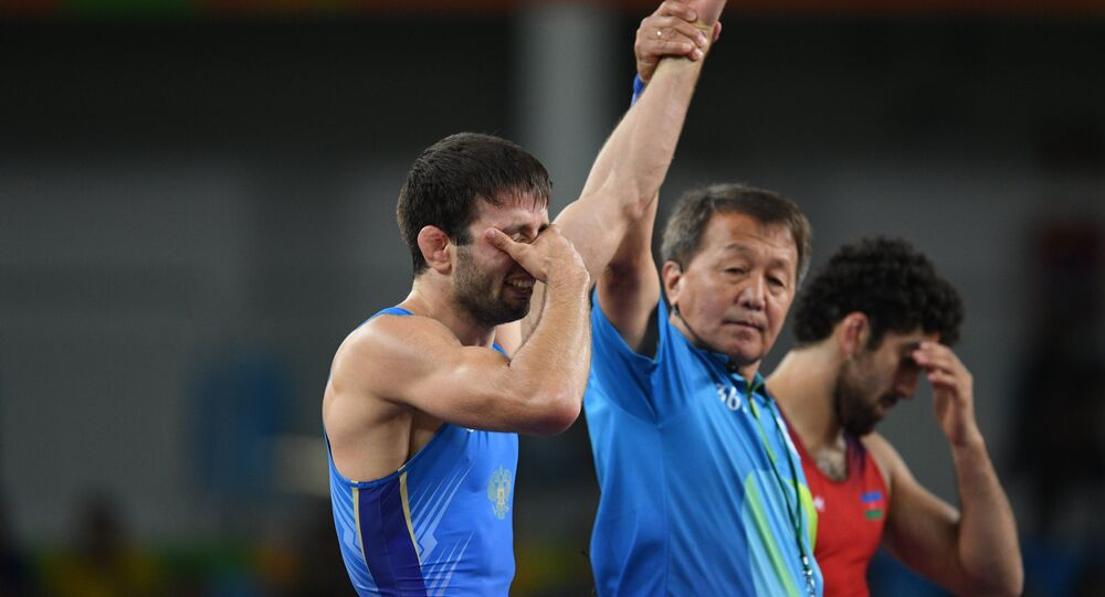 Russian freestyle wrestler Soslan Ramonov on Sunday won the final of the men's 65 kg competition at the 2016 Rio Olympics.