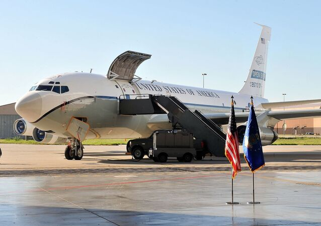A Boeing OC-135B Open Skies aircraft