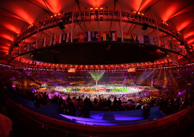 Closing ceremony of the XXXI Olympic Summer Games in Rio de Janeiro