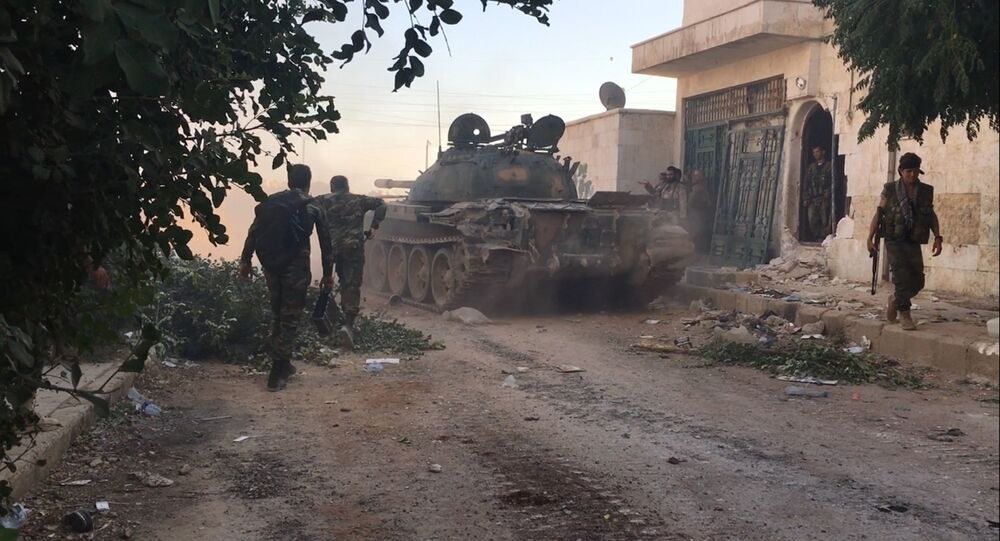 Syrian army troops. File photo