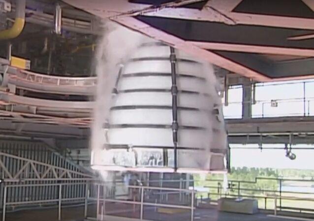 NASA RS-25 Rocket Engine Test Firing