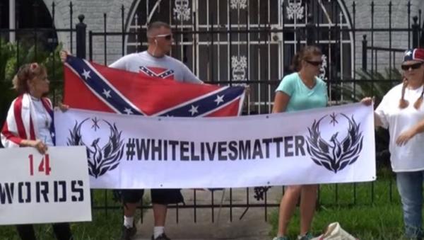Armed 'White Lives Matter' Group Protests Outside Houston NAACP - Sputnik International