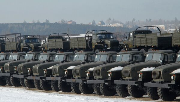 Urals trucks produced at the Ural Automotive Plant in the city of Miass - Sputnik International