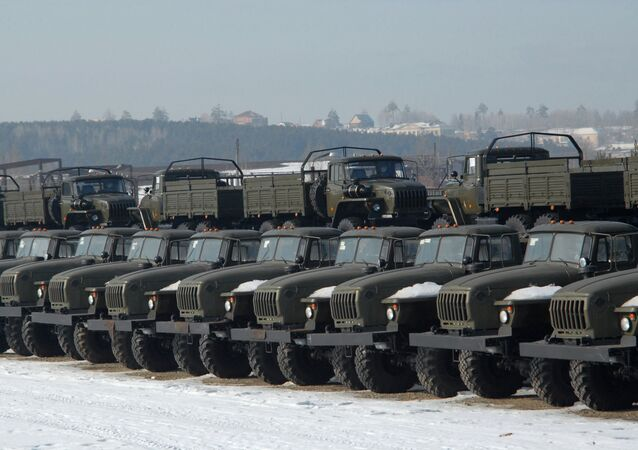 Urals trucks produced at the Ural Automotive Plant in the city of Miass