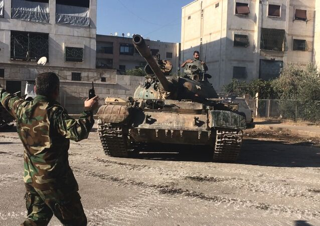 Syrian army's assault on southwest Aleppo