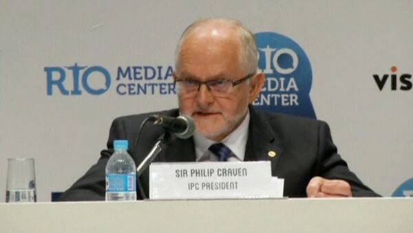 International Paralympic Committee (IPC) President Philip Craven speaks during a news conference in Rio de Janeiro, Brazil August 7, 2016 in this still image taken from video. - Sputnik International