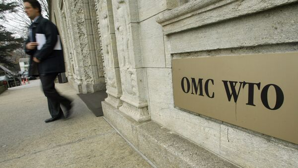 A person gets out of the World Trade Organization (WTO) headquarter in Geneva (File) - Sputnik International