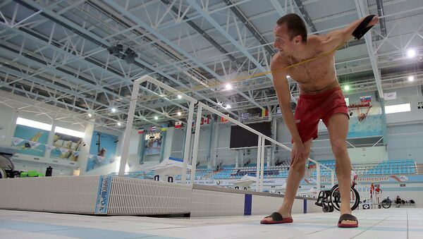 Russian Paralympic swimming team during training session - Sputnik International