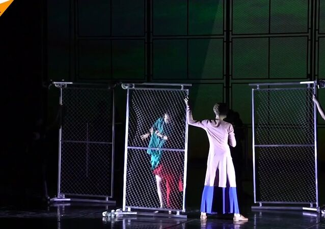 Russian St. Petersburg Ballet Theatre Rehearses Ballet About Refugees