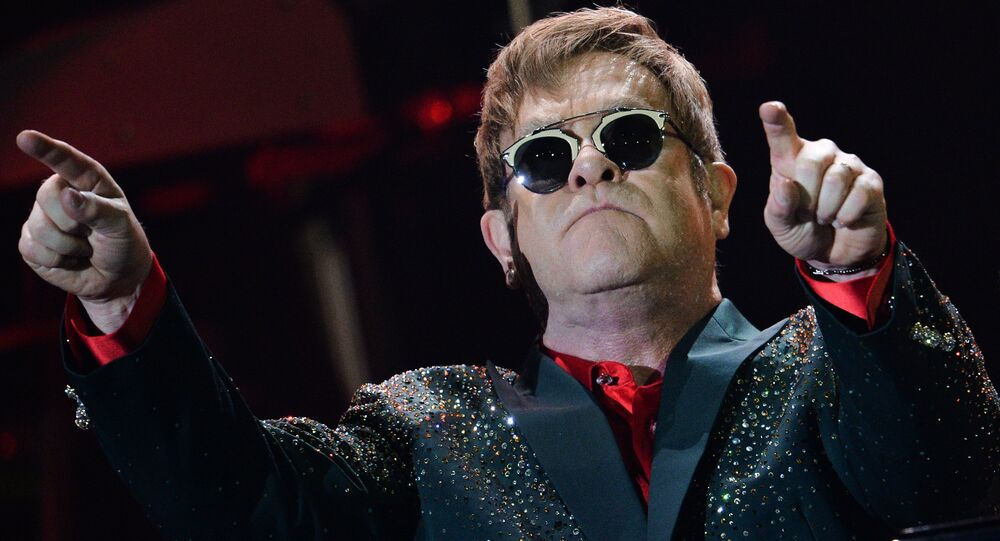Elton John gives concert in Moscow