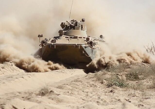 Russian Servicemen Master Extreme Driving with BTR-82A
