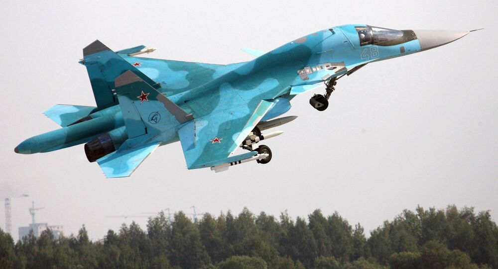 A Su-34 Fullback fighter-bomber at the MAKS-2007 International Aviation and Space Show in Zhukovsky. (File)