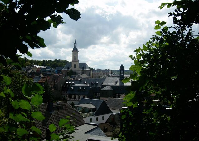 View over the town of Lichtenstein/Sa.