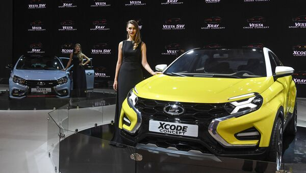 A Lada XCode at the 2016 Moscow International Automobile Salon at Crocus Expo in Moscow - Sputnik International