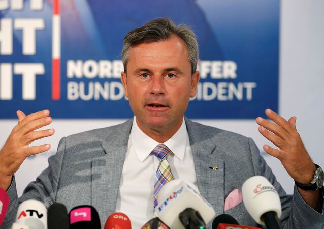 Austrian presidential candidate Norbert Hofer of the Freedom Party (FPOe) addresses a news conference ahead of a re-run of the run-off presidential election in Vienna, Austria August 29, 2016