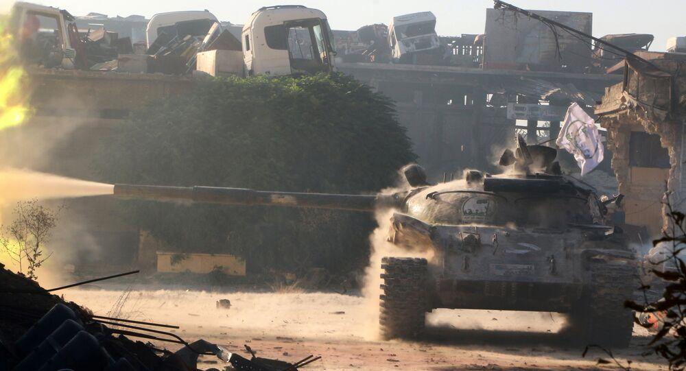 Free Syrian Army tank (File)