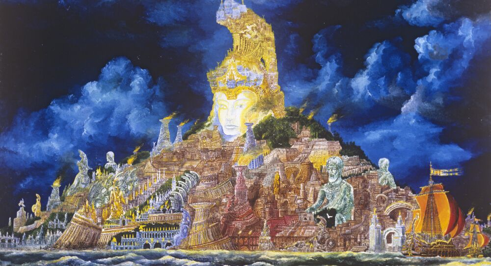 Reproduction of Atlantis painting (1979) by artist Vladimir Smirnov