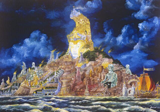 Reproduction of Atlantis painting (1979) by artist Vladimir Smirnov