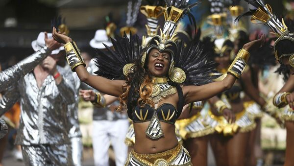 Performers participate in the parade at the Notting Hill Carnival in London, Britain August 29, 2016 - Sputnik International