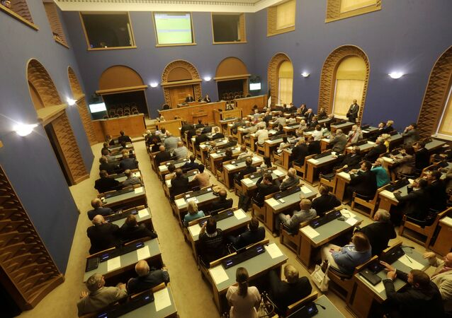 A general view of Estonian Parliament session hall during the first round of Estonia's presidential election in Tallinn, Estonia August 29, 2016