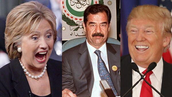 Hillary Clinton, Saddam Hussein, Donald Trump - Sputnik International