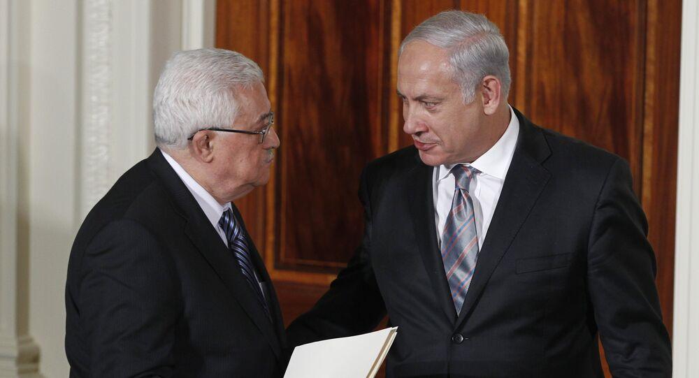 Israel's Prime Minister Benjamin Netanyahu and Palestinian President Mahmoud Abbas (File)