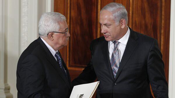 Israel's Prime Minister Benjamin Netanyahu and Palestinian President Mahmoud Abbas (File) - Sputnik International