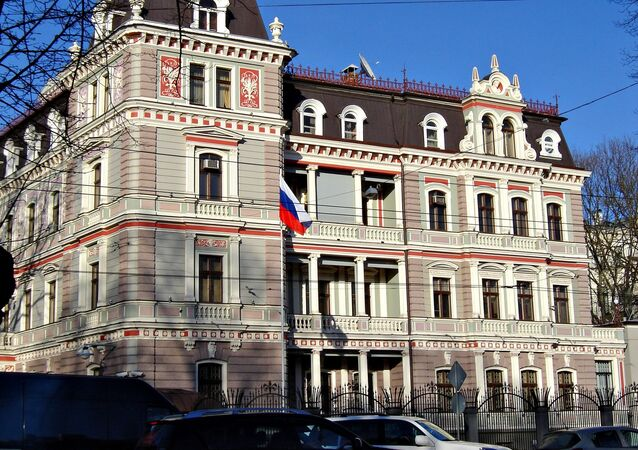 Russian embassy in Riga, Latvia