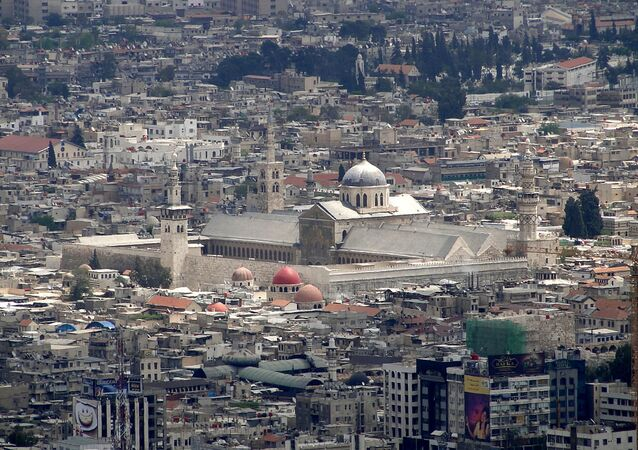 View of the Umayyad Mosque, Damascus, Syria