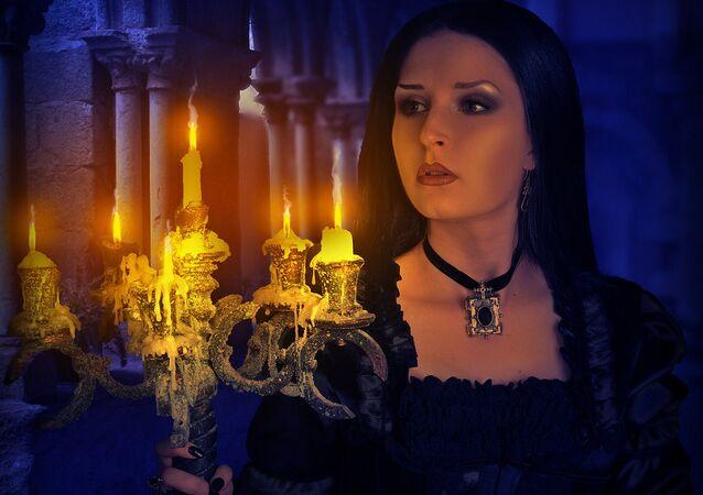 Lady in a castle